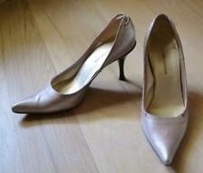 Costume National Silvery Gold Pointed Toe Pumps Shoes Size 37