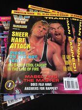 WWF WWE Magazine SEPTEMBER 1994 - Owen Hart Anvil Cover + Merchandise Catalog