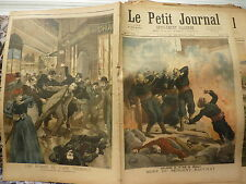 PETIT JOURNAL- 1894 - N°171 mort sergent BAUCHAT / bombe café Terminus PARIS