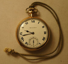 Antique South Bend Grade 219 16s 19J Pocket Watch 1915 OF Double Roller BP