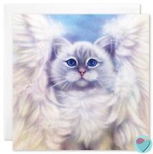 Sacred Birman Cat Card kitten Angel Wings Pet Loss Sympathy Condolence Art Print