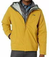 Outdoor Research Men's Guardian Jacket, Tumeric, Large - Waterproof, Breathable.