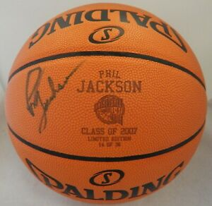 Phil Jackson Signed Basketball Hall of Fame Limited Edition Basketball HOF Auth.