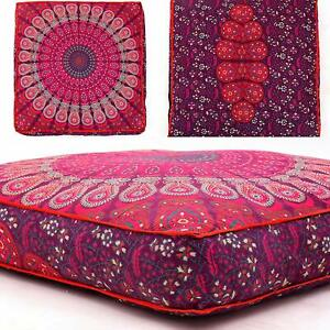 """35"""" Seating Cover Pouf Mandala Ottoman Cushion Floor Pillow Case Indien Square"""