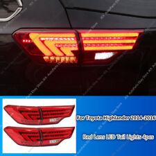 Red Lens Rear Tail Light LED Brake Lamp Lights For Toyota Highlander 2014-2016