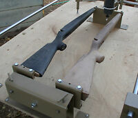 * Gunstock Blank Carving Duplicator with Foot Controlled Auto Rotation