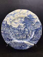 Enoch Wedgewood (Tunstall) Ltd. Old English Village Plate Genuine Hand Engraving