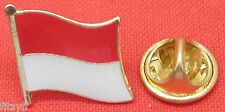 Indonesia Indonesian Country Flag Lapel Hat Cap Tie Pin Badge Brooch Republic