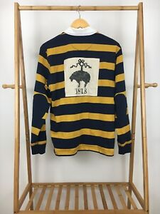 Brooks Brothers Men's Big Golden Fleece Logo Striped Rugby Polo Shirt Size M