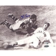 Yogi Berra Autographed 8x10 Photo Tagging out Ted Williams COA STEINER SPORTS