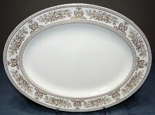 "Wedgwood COLUMBIA GOLD (White) 15"" Oval Serving Platter"