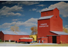 Walthers Cornerstone N Scale Building/Structure Kit Farmers Co-op Grain Elevator
