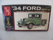 Vintage 1/25 AMT 3'n1 Trophy Series 1934 Ford Pickup / Tow Truck #2334-170 VG