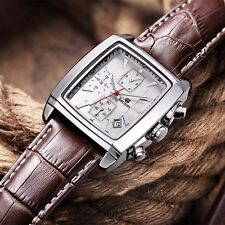 Beautiful looking Watch Chronograph luxury Classic for men Megir Leather Date