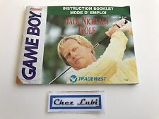 Notice - Jack Nicklaus Golf - Nintendo Game Boy - PAL FAH
