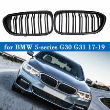 Front Kidney Grille Matte Black Double Slat FIT BMW 5-series G30 G31 Sedan 17-19