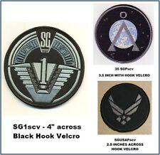STARGATE SG-1 UNIFORM PATCH SET WITH HOOK BACKING - SG1scvset