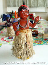 Vintage Hawaiian Hula Girl Wiggler Wind Up Toy Doll Japan FREE SHIPPING A.