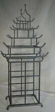 Vintage Mid-Century Modern Welded Steel Sculpture PAGODA Umbrella Stand BLACK