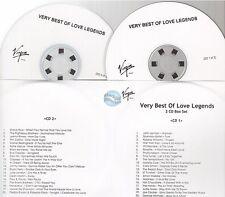 VIRGIN very best of love legends CD PROMO collins melua lennon roxette madness
