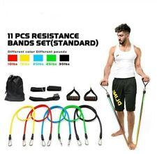 11pcs Exercise Resistance Bands Yoga Fitness Pilates Gym Kit