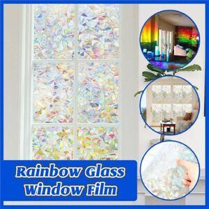 Rainbow Glass Window Film 3D Window Film Decorative Rainbow Effect Under Sunsh