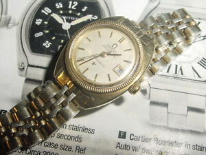 Vintage 1970's OMEGA Constellation Chronometer 14k Capped & SS ladies Watch