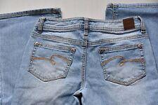 Justice Girls 12.5 12 1/2 Light Medium Wash Blue Jeans Boot Cut