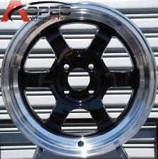 ROTA GRID CLASSIC 15X7 +20 ( 13 BLS ) BLACK 4X100 FIT CIVIC CRX FIT LIGHT WHEEL
