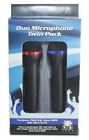 NEW! iMP Tech Duo USB Microphone Twin Pack for PS2 PS3 PS4 XBox 360 Wii U PC