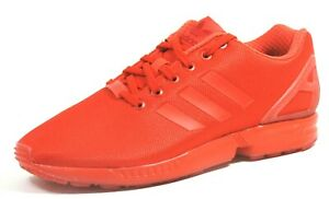 Adidas ZX Flux Mens Shoes Running Athletic Red Nylon Dead Stock Vitnage AQ3098