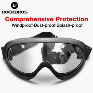 ROCKBROS Anti-fog Outdoor Sports Glasses Fully Sealed Protective Goggle Black US