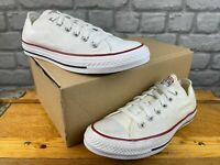 CONVERSE ALL STAR OX M7652C MENS LADIES TRAINERS WHITE CANVAS RRP £52 C