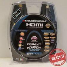 Monster Premium Black Platinum 35ft 4K UltraHD Performance Indicators HDMI Cable