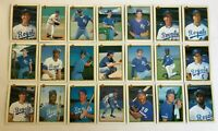 1990 KANSAS CITY ROYALS Bowman COMPLETE Baseball Team SET 21 Cards BRETT JACKSON