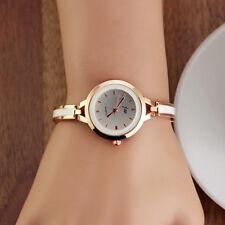 Fashion Womens Lady Gold Round Quartz Analog Fashion Dress Bracelet Wrist Watch
