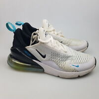 Men's NIKE 'Air Max 270' Sz 9.5 US Runners White Black VGCon | 3+ Extra 10% Off
