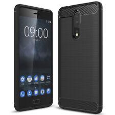 Bescherming Behuizing voor Nokia 8 Beschermhoes Telefoon Case Dun Gummi Zwarte