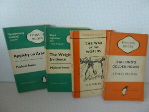 Vintage Penguin Books x 4 Weight of the Evidence Appleby Kai Lung's War of World