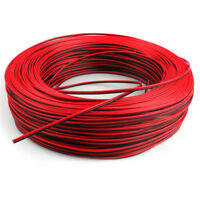 2Pin 10m Car Motorcycle Electric Wire Cable Red/Black Connector For Led LightZX