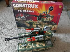 Fisher Price Construx THUNDERING TRACKS 6330 Military Series vintage 1986 *w BOX