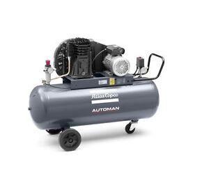 Atlas Copco AB31 Automan 3HP 13.7cfm Air Compressor Receiver Mounted