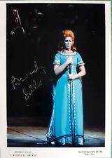 Opera Lirica Autografo Beverly Sills Soprano Assedio di Corinto Metropolitan