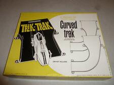 VINTAGE TRANSOGRAM TRIK-TRAK 2 PIECES LEFT HAND CURVED TRAK 1965 W ORIGINAL BOX