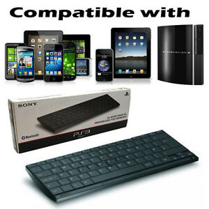 Official Sony Wireless Slim AZERTY Bluetooth Keyboard for PS2/3/4 & iPad iPhone