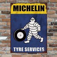 Michelin Man Retro Vintage Tin Sign