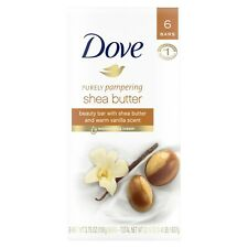 Dove Purely Pampering Beauty Bar Shea Butter 3.75 oz 6 Bars