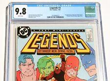 CGC 9.8 LEGENDS #3 * 1st Suicide Squad * John Byrne * 1987 * DC * White Pages