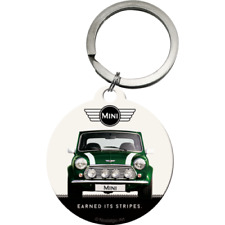 Nostalgic Art Metal Key Ring Mini Car & Logo