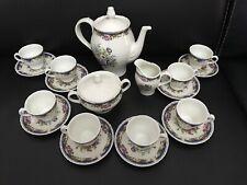 VintageRichard Ginori Italian Demitasse Set Teapot,Creamer Sugar & Cups & Saucer